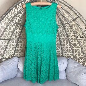 Tiana B A Line Lace Dress - Green